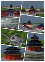 3d model temple heaven