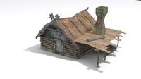 3d model steampunk house