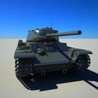 3d soviet tank model