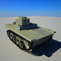 soviet tank 3d max