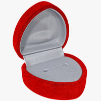 Red Velvet Textured Heart Ring Box