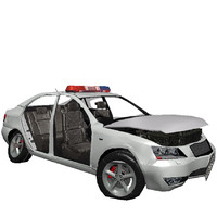crashed police car 3ds