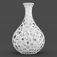 3d model perforated vase