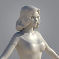 3d girl woman female model