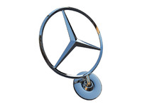 mercedes hood badge 3d 3ds