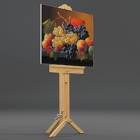 drawing canvas tripod uv-unwrapped 3d model