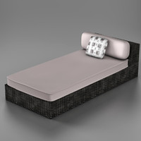 3ds max wicker chaise