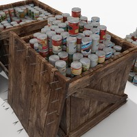 Warehouse Goods Crates Wooden collection