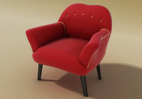 3d model penny armchair