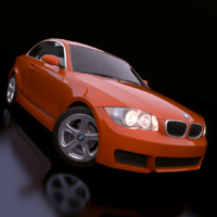 bmw 1-series rigged car 3d x