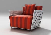 armchair chair 3d 3ds
