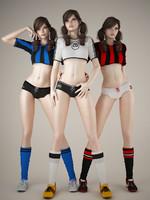 3d model football baby