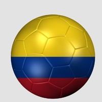 soccer ball colombia flag 3d 3ds