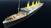 rms titanic liner ocean 3d obj
