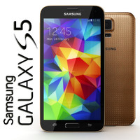 3d 3ds samsung galaxy s5 gold