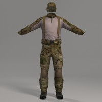 3ds max combat apparel headwear multicam