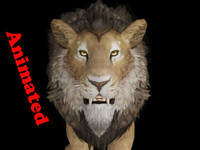 male lion animal fbx