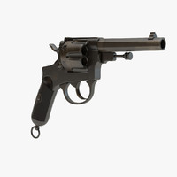 3d - bodeo 1889 revolver