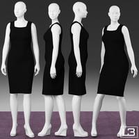 size woman mannequin 3d max