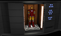 avengers helicarrier vault diorama 3d model