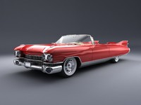 cadillac eldorado 1959 studio lighting 3d model