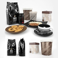 3d cookies coffee nuts
