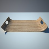 3d model wooden tray