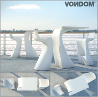 3d table chair wing vondom model