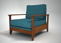 3d jasper armchair model