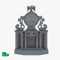 3ds max antique clock