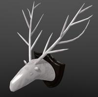 antlers deer 3d model