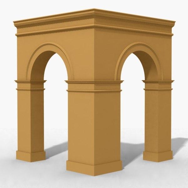 3ds max arches corner