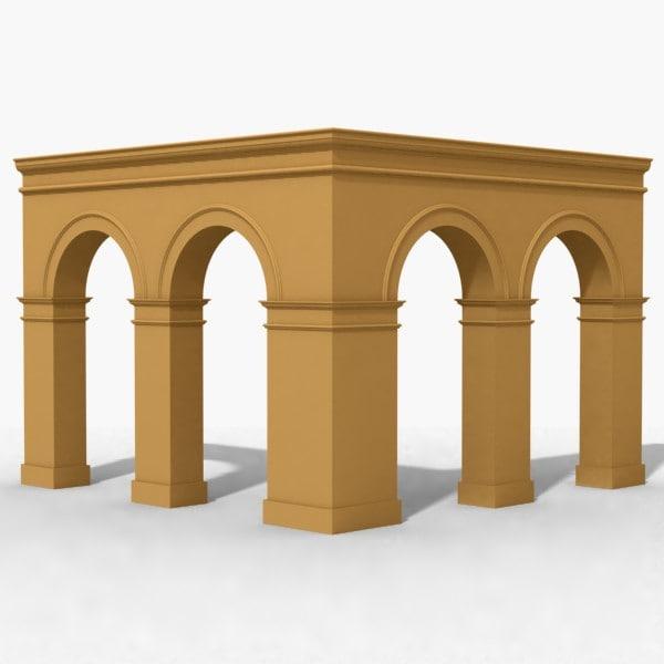 arches corner 3d 3ds