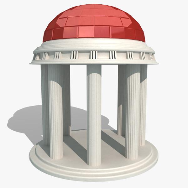 temple landmark 3d model