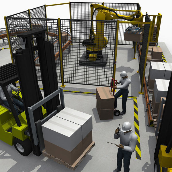 warehouse palletizer robot 3d 3ds