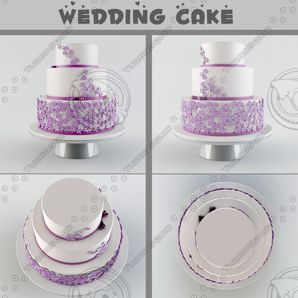 3d model of wedding cake