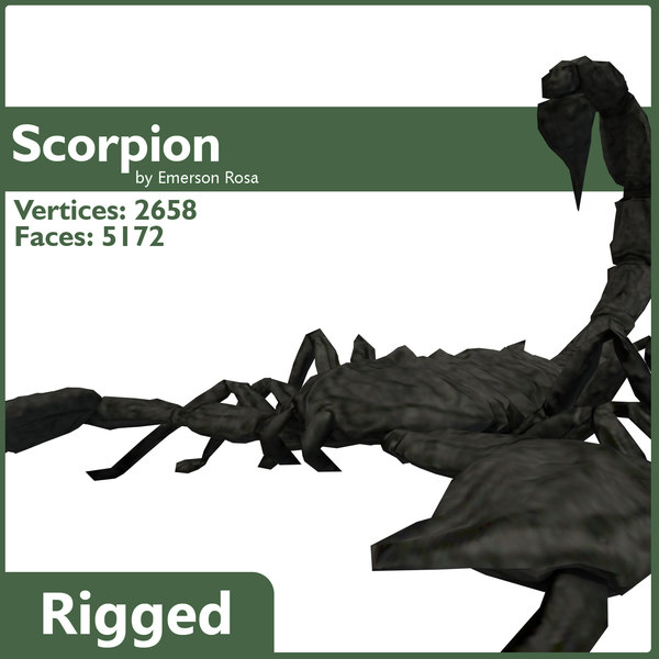 3d scorpion rigged model