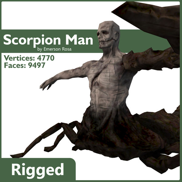Rigged Scorpion Man