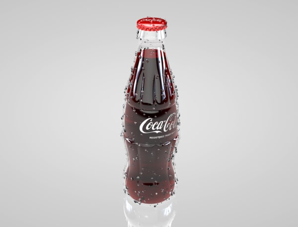 3d soda bottle