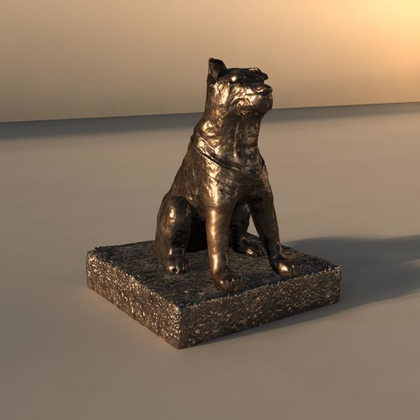 3d model hachiko statue