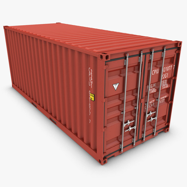 3dsmax container 20ft