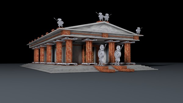 3ds max pantheon temple