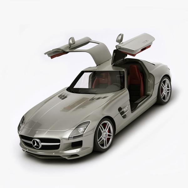 Rigged Mercedes Benz SLS AMG