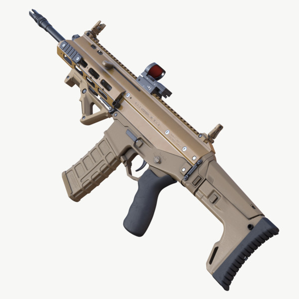 highpoly rifle acr 3d max