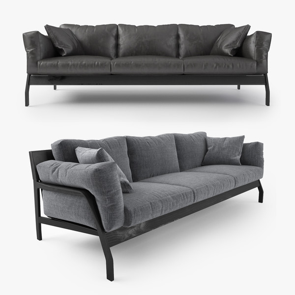 cassina eloro sofa 3d model