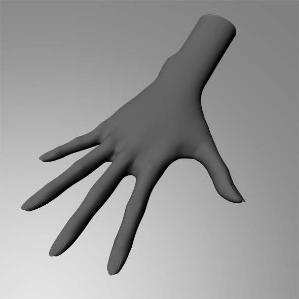 female hand obj