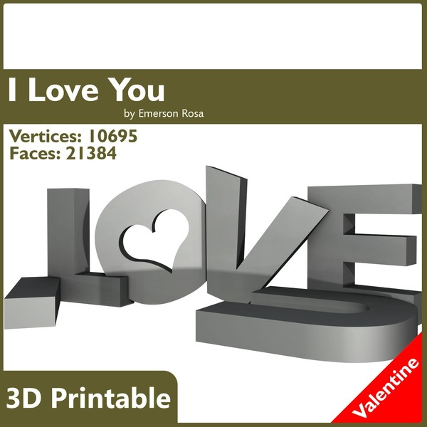 free love u valentine 3d model