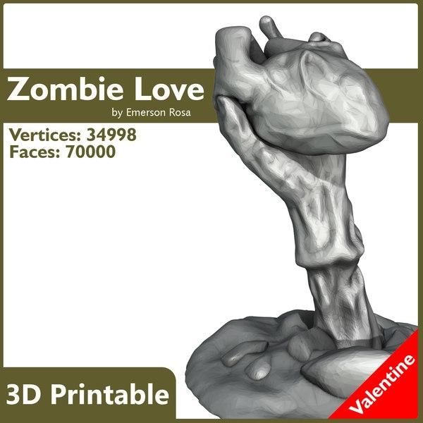 3d model printable zombie