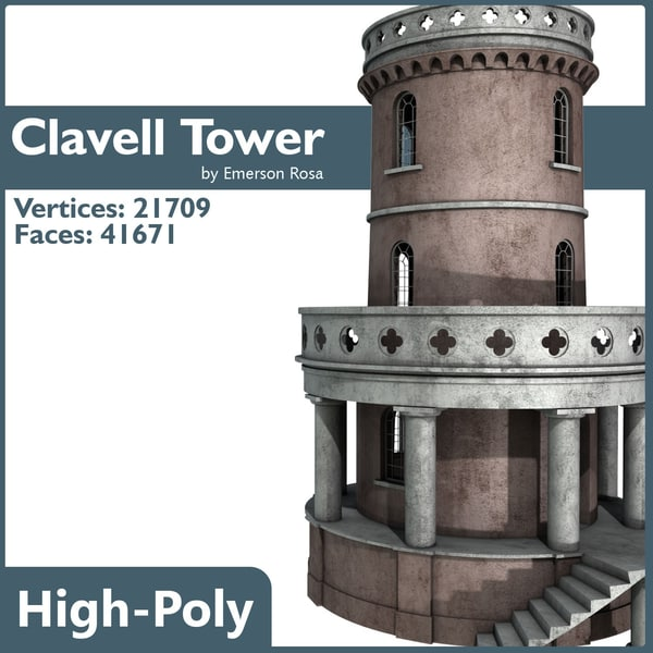 3d clavell tower model