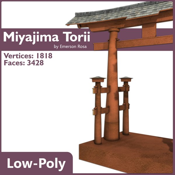 torii floating gate 3d model